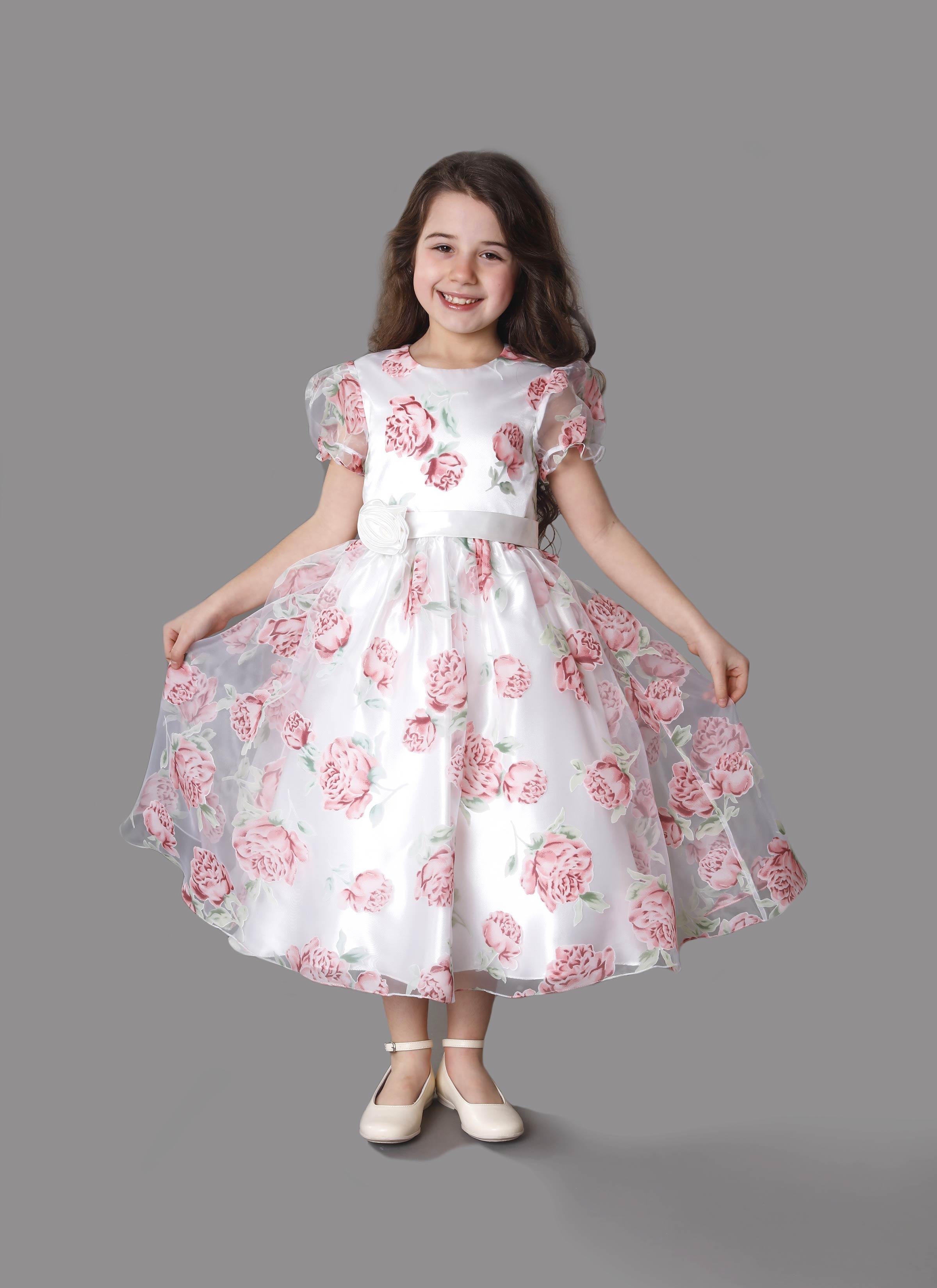 new arrival 57f90 5b1cd Atelier Mariella Gennarin | Abito da cerimonia per bambina rosa