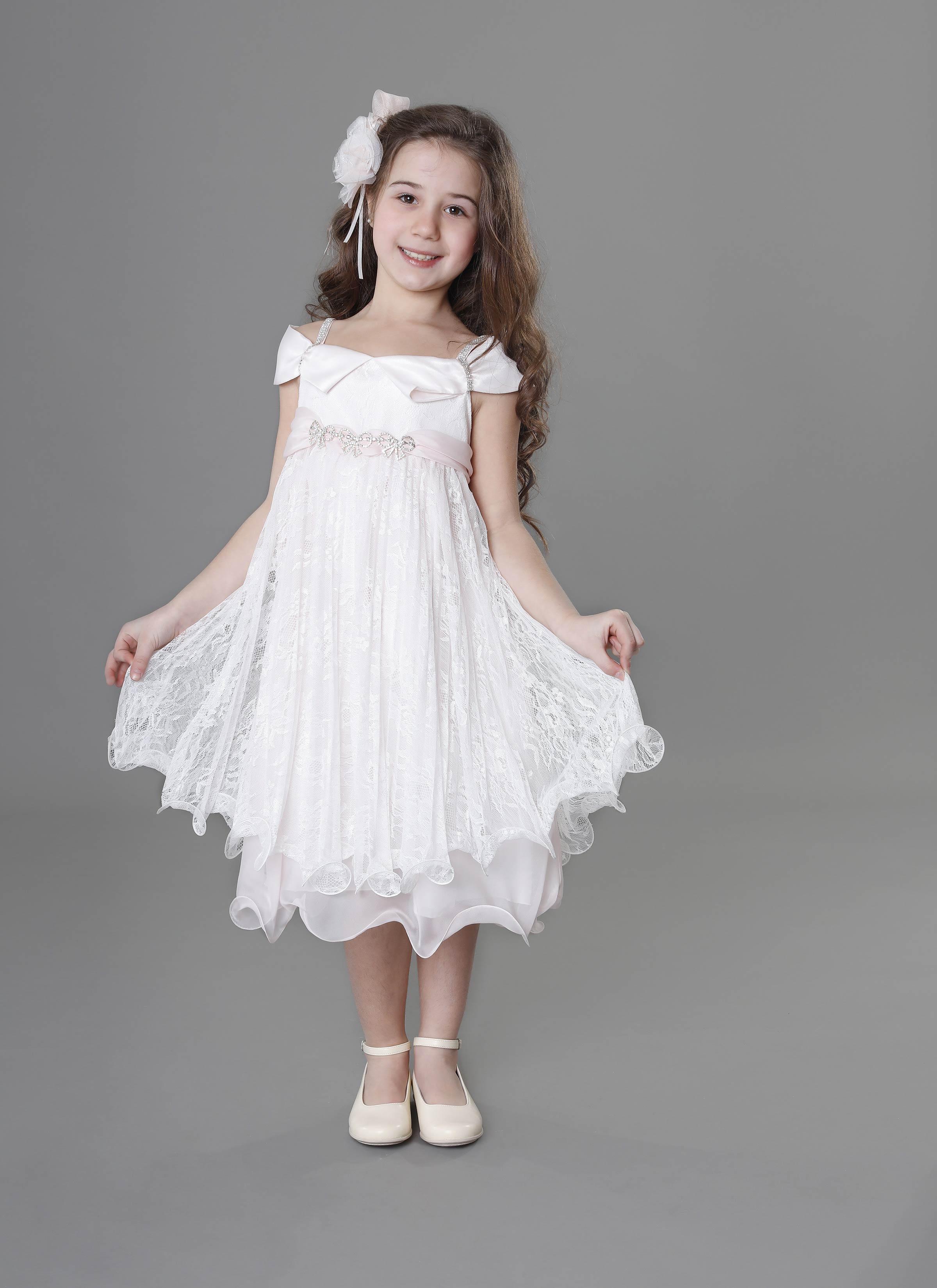 Vestiti Eleganti Bambina 12 Anni.Vestito In Merletto Per Bambina Da Cerimonia Da 8 A 12 Anni