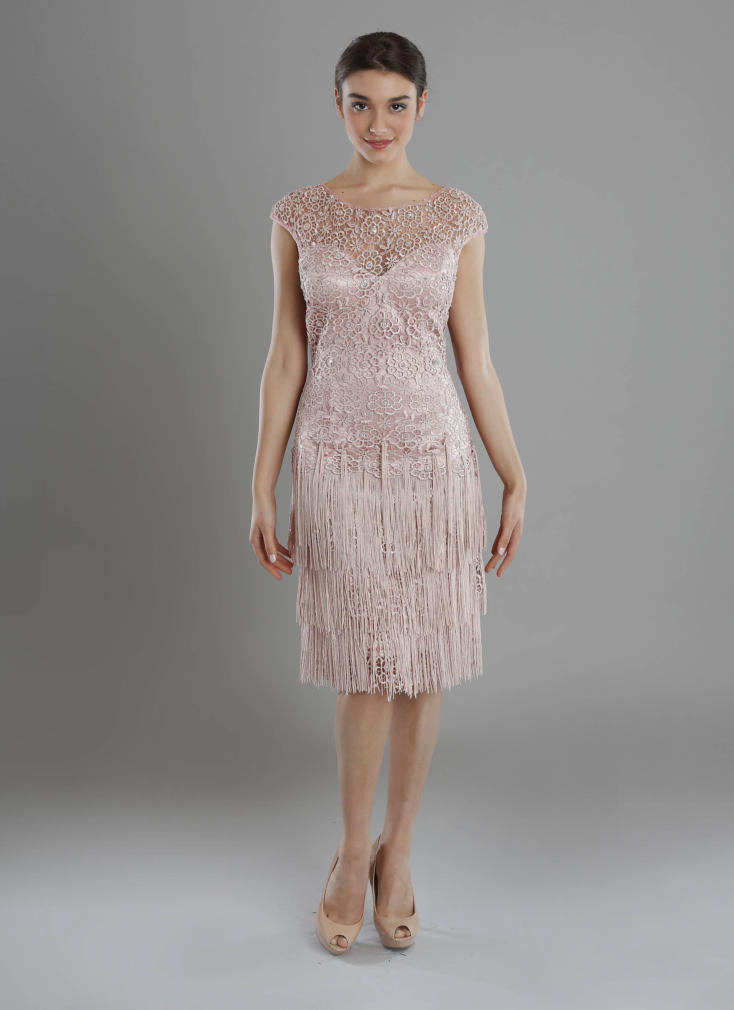 pretty nice 0cc9e 180f8 Atelier Mariella Gennarino   Abito rosa corto per cerimonia