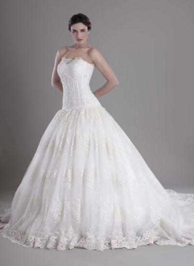 Atelier abito da sposa Catania - abito in tulle bianco con decori Mariella Gennarino