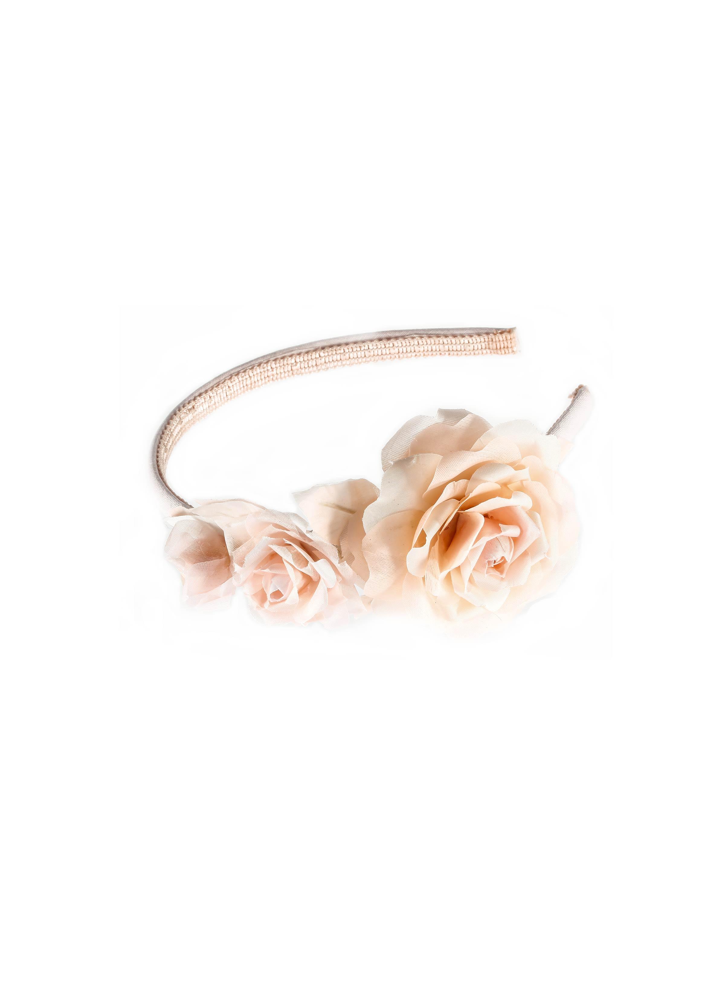 fabbrica sconto più votato vasta gamma Atelier Mariella Gennarino | Cerchietto rosa cipria con roselline