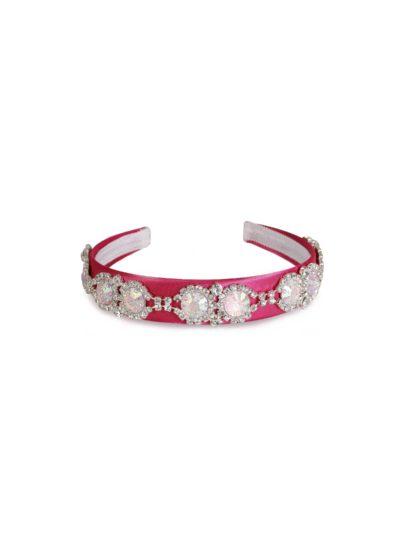 Cerchietto fucsia con pietre rosa swarovski Mariella Gennarino