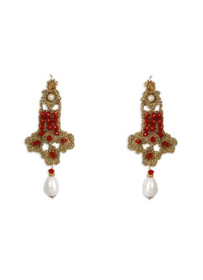 Atelier alta moda Mariella Gennarino: orecchini eleganti