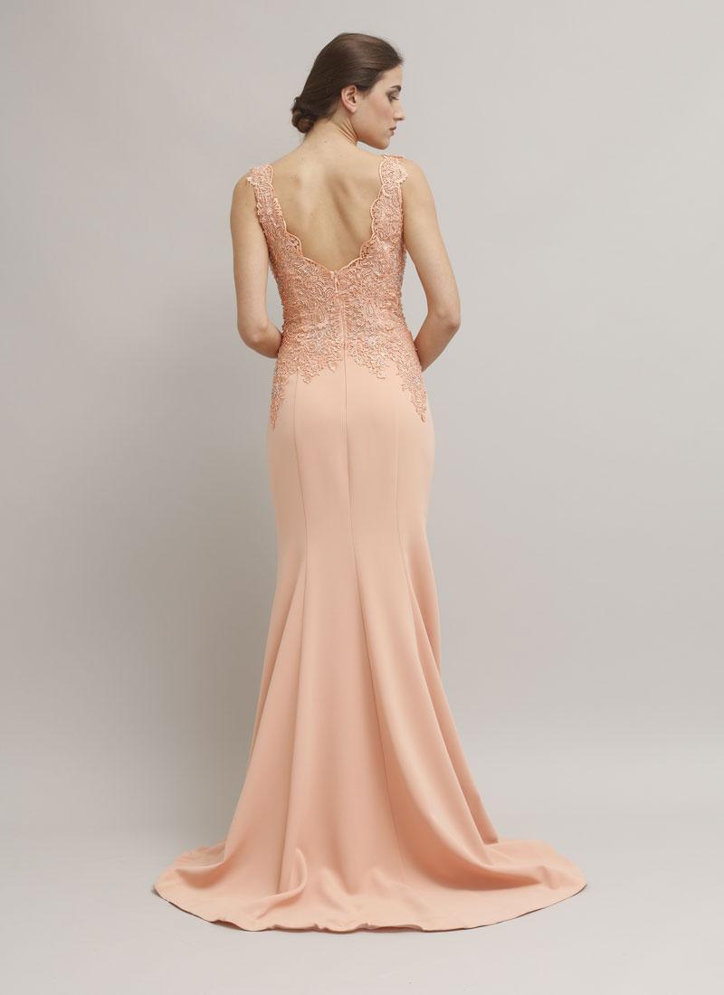 timeless design f6209 c31d4 Eleganti Di Abiti 67cgqnwwa Vestito Cerimonia Rosa Pesca ...