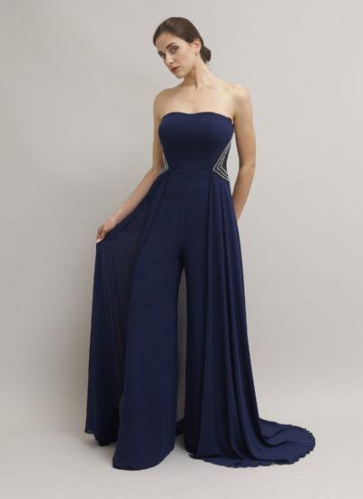 Tuta intera elegante blu - Abiti da cerimonia alta moda a Catania