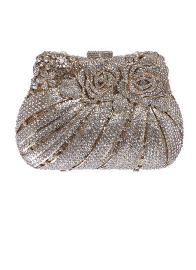 Borsa gioiello con decori swarovski - Mariella Gennarino alta moda