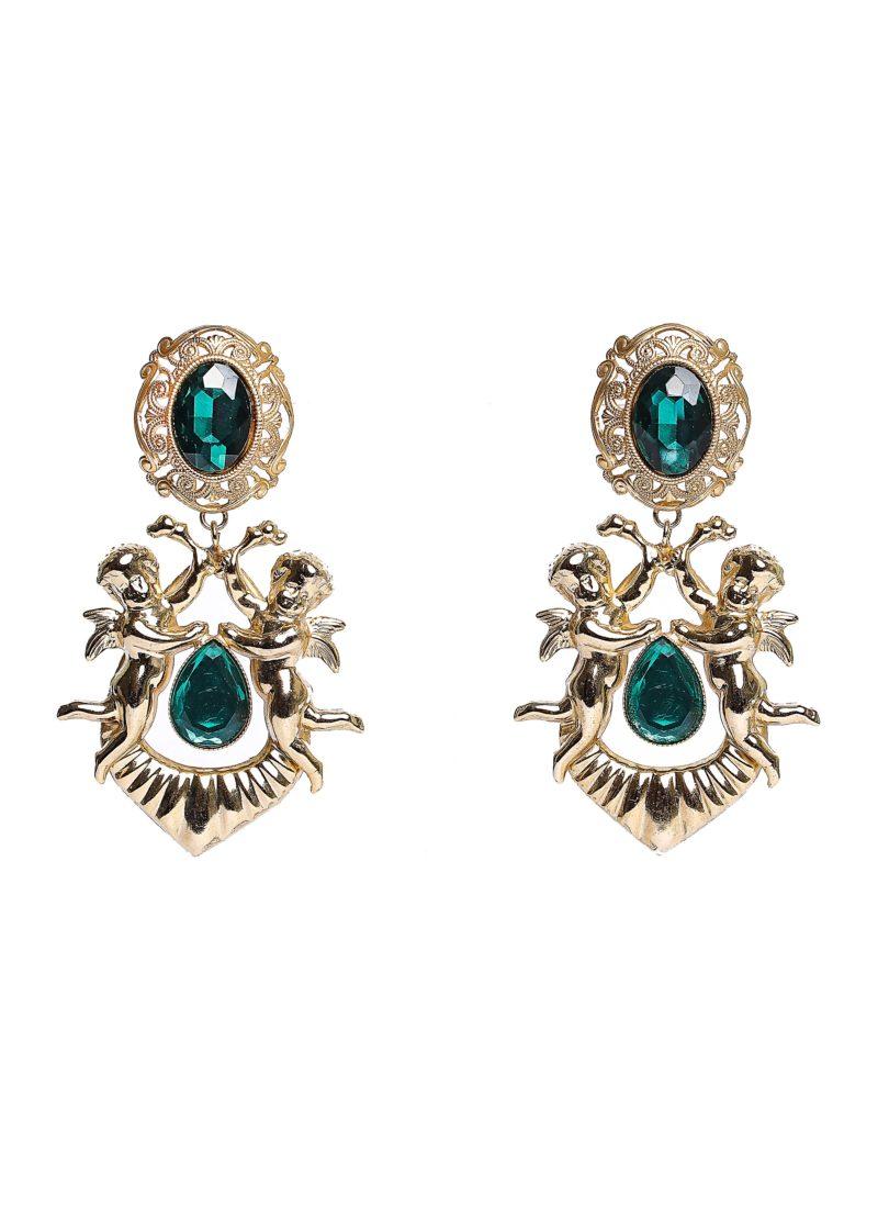 Nuova collezione orecchini 2017 - Orecchini in ottone con angeli