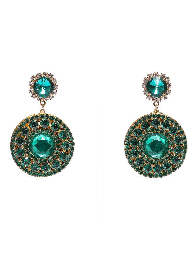 Orecchini pietre swarovski smeraldo | Orecchini 2017 Mariella Gennarino