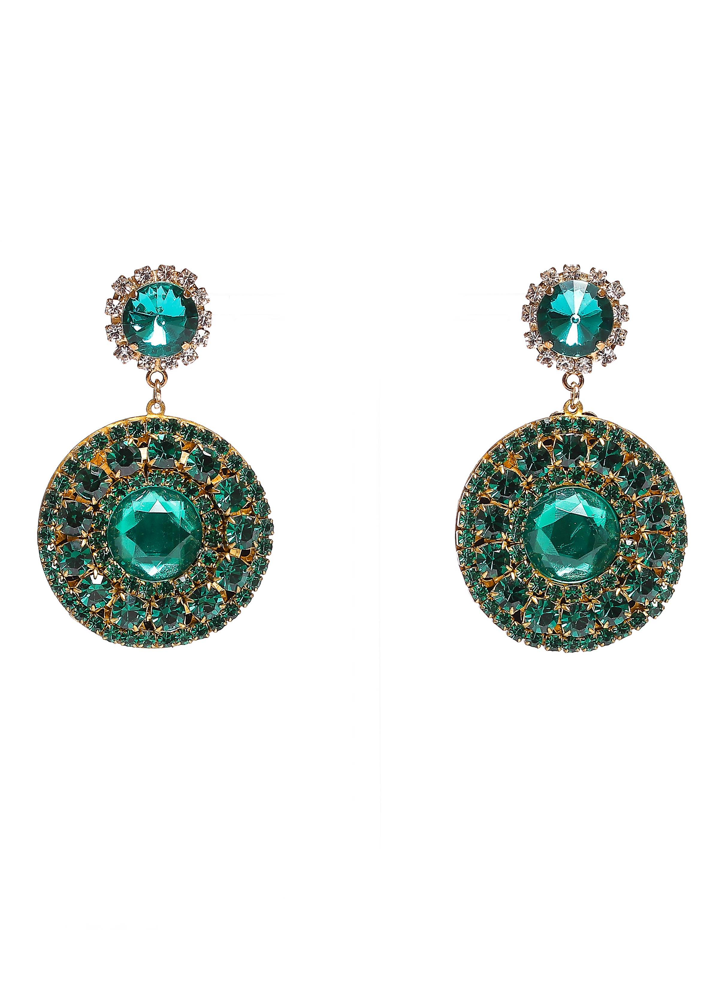 abbastanza Collezione swarovski   Orecchini con pietre verde smeraldo EQ67