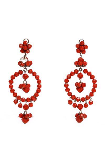 Orecchini rossi Stella McCarteney | Atelier alta moda Catnaia