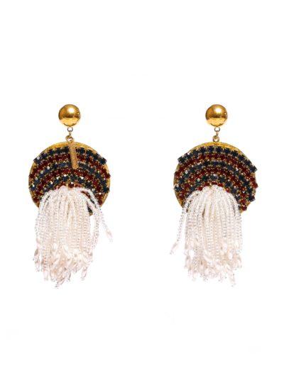 Orecchini con perline e strass Mariella Gennarino - Accessori alta moda