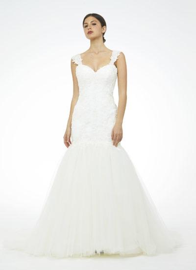 Atelier Mariella Gennarino: abito da sposa in tulle e pizzo