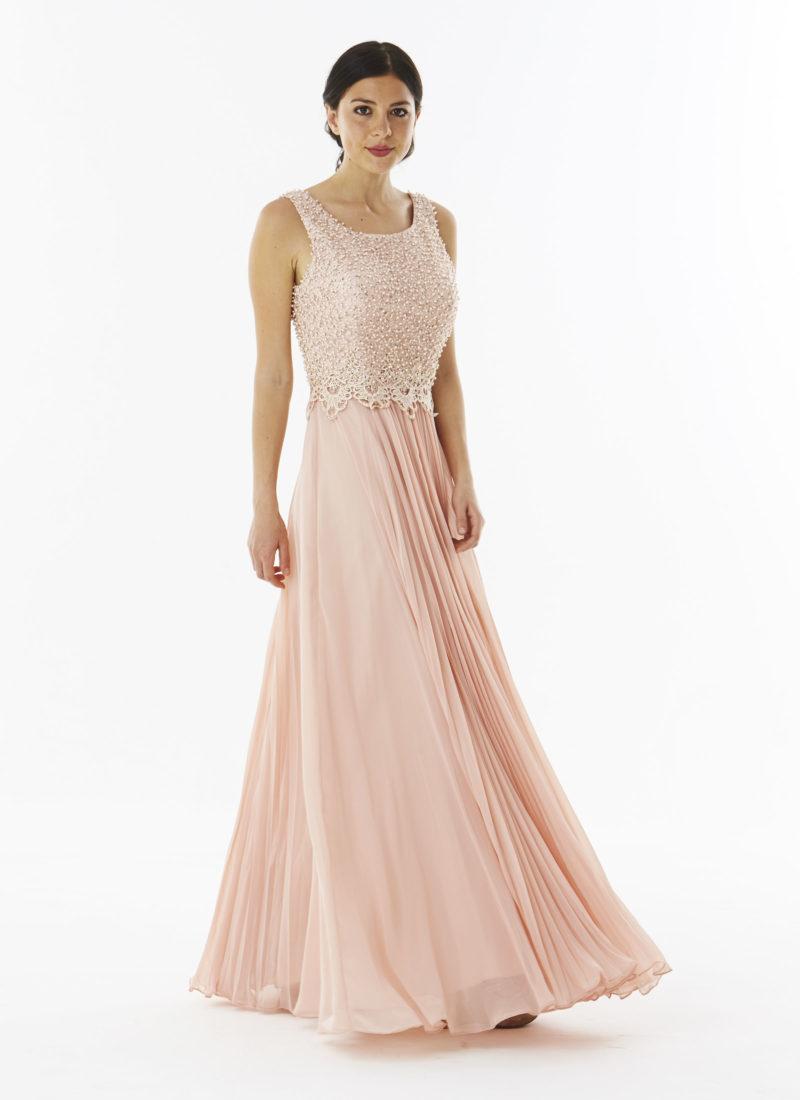 bb7c60050252 abito in georgette rosa tenue