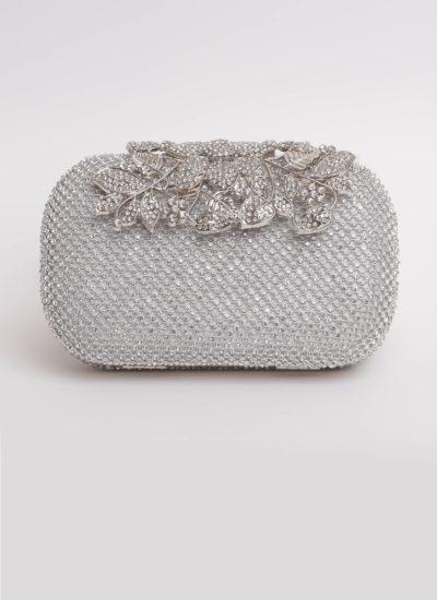 Clutch gioiello argento con fiori di Mariella Gennarino