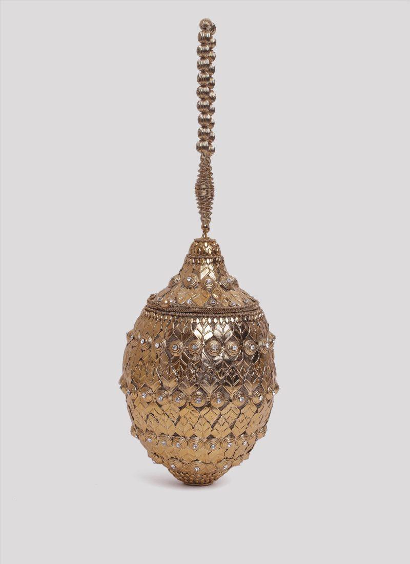 Clutch in metallo dorato Mariella Gennarino