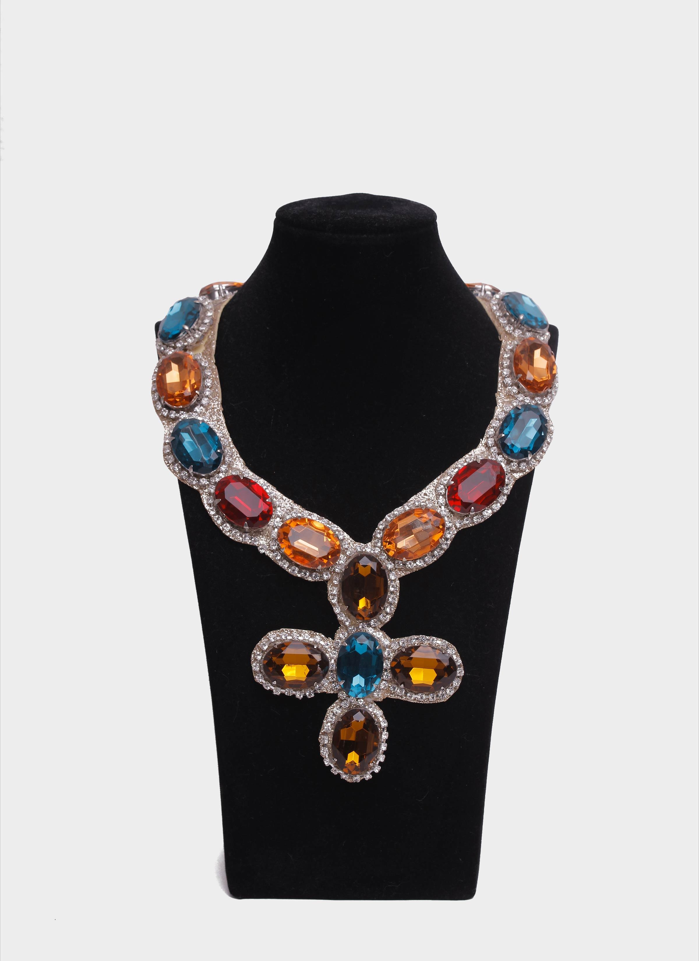 Collana in stile normanno con pietre multicolor Mariella Gennarino