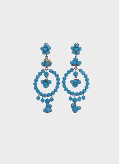 Orecchini chandelier turchesi Stella McCartney di Mariella Gennarino