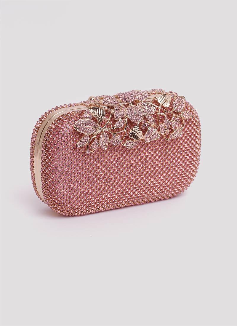 Borsa rosa con fiori Mariella Gennarino