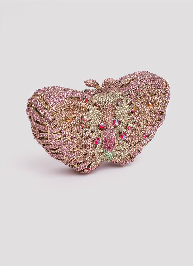 Clutch farfalla gioiello con swarovski Mariella Gennarino