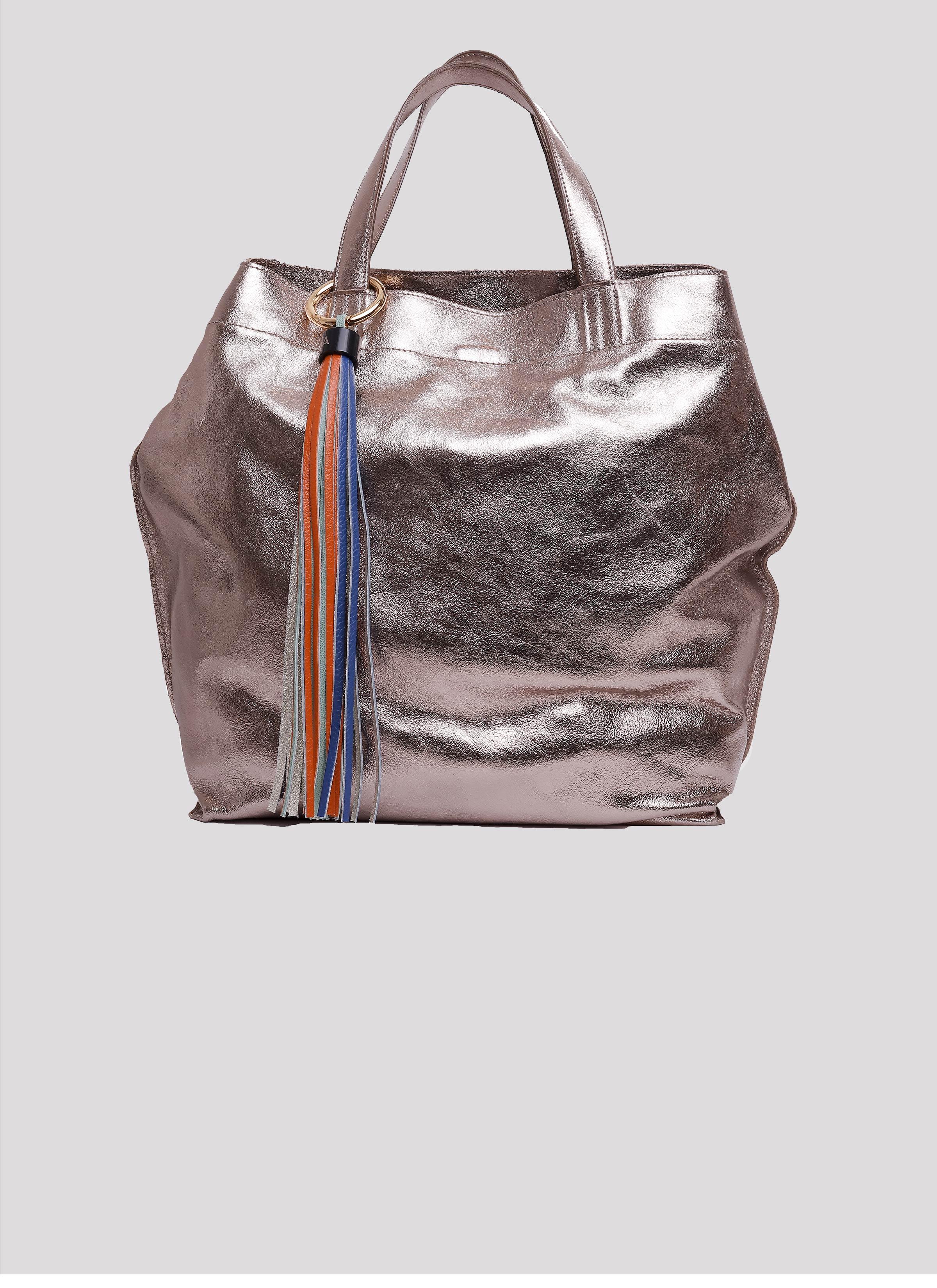 Borsa Almala in pelle bronzo effetto metallizzato di Mariella Gennarino